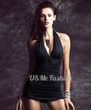 Swimsuits сексуальных хороших женщин Halter Bosy глубоких v Backless черные