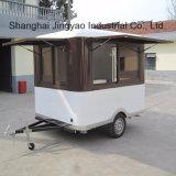 上海のフローズンヨーグルト機械が付いている移動式食糧カート