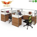 Partición blanca moderna popular caliente del sitio de trabajo de la oficina de 4 asientos (HY-P06)