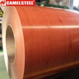 Bobina de acero prepintada modelo de madera material de Camelsteel
