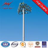 guincho elevado de Pólo 1.2ton do mastro de 30m com luzes do diodo emissor de luz 15*2000W