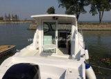8.5m fibra de vidro e barco do cruzador de cabine do alumínio