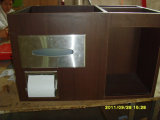 MDF Laminated Hotel Cabinets de toilette pour salle de bain