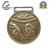 Médaille d'athlètes de marathon d'usine avec l'aperçu gratuit et le dessin-modèle