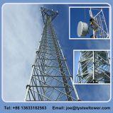 3leged Tubo de acero de la torre de telecomunicaciones