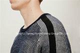 オットマンのアクリルのウールの円形の首のニットの人のセーター