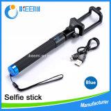 Fio portátil de alta qualidade Selfie Stick para telemóvel