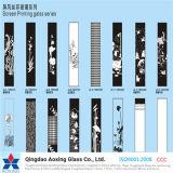 3-19mm Cristal templado de la Seda serigrafiada con el patrón de varios