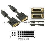 Переходника DVI-D конвертера DVI удваивает кабель мужчины Pin соединения 24+5