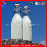 Nuevo giro de Mini 250ml botella de vidrio transparente de la parte superior de la leche