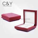 Caixa de empacotamento do perfume de madeira vermelho do revestimento de Matt