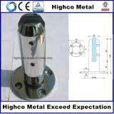 Zipolo rotondo inossidabile con la base per la balaustra dell'acciaio inossidabile