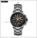 Высокопоставленный wristwatch автоматических людей вахты силикона спорта вахты швейцарца