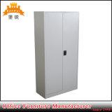 Bureau d'ameublement en acier Meuble de rangement en métal de 2 portes / tiers utilisé avec étagères à 5 couches