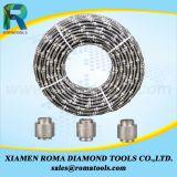 Sierras de alambre de diamante para el bloque de granito, granito, canteras,