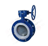 Oil GasのためのPFA Lined Flange Butterfly Valve