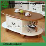 Sala de estar do lado de mobiliário de madeira tabela final (W-CB-418)
