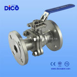 2PC Flange Stainless Steel Floating Ball Valve
