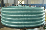 プラスチックPVC灌漑用水の産業ホースのための緑の明確な透過鋼線の螺線形の管