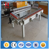 Máquina de estiramento de tela de seda mecânica de parafuso