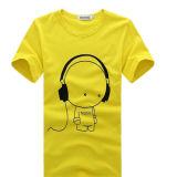 사용자 정의 프로 모션 화이트 인쇄 T 셔츠 공장 / 남성용 T 셔츠