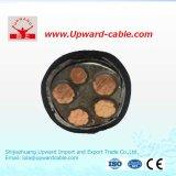 VV 5 основных многосторонних ветви высокого напряжения Amoured медного кабеля питания