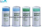 Micro descartáveis dentária dobrável regular do aplicador azul e azul claro (Q901T)
