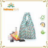 Nylon riutilizzabile Foldable Shopping Bag, Nylon Bag Fold Into uno Small Pouch
