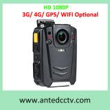 De VideoLichaam Versleten Camera van de Politie HD 1080P Facultatief met 3G 4G GPS WiFi