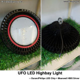 luzes elevadas comerciais do diodo emissor de luz do louro do UFO da fábrica industrial do armazém 240W