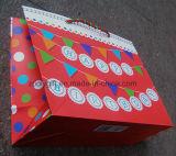 Personnaliser le sac de papier d'imprimerie de modèle avec le traitement de bande