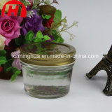 Salada de vidro do frasco 200ml do atolamento redondo que veste o frasco