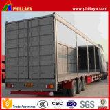 Cama baja de 3 ejes de transporte de carga lateral de cortina semi remolque