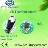 excitador do diodo emissor de luz de 2With3With4With5With6With7With8W E14 para o bulbo do filamento com compatibilidade electrónica