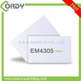 Smart Card regrabable de plástico de PVC de la viruta Em4305 tarjeta RFID de Em Compañía