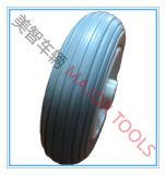 Rim de plástico 7 polegadas PU Foam Rubber Stroller Wheel 7X2.5