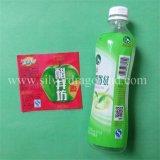 Durch Hitze schrumpfbarer Kennsatz für Getränkeflasche