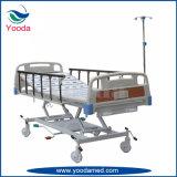 Cama de hospital hidráulica de función triple