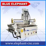 Router 1325, macchinario della mobilia, macchina di CNC delle teste del sistema pneumatico 3 di CNC che fa portello di legno per incisione del legno