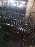 PU рамки нержавеющей стали новой конструкции самомоднейший золотистый обедая стул