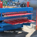 Rolo de aço da folha da telhadura da cor da Dobro-Camada que dá forma à máquina