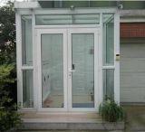 2017 Hot Sale de haute qualité à battants en PVC Porte en verre avec grill Design pour balcon (PCD-009)