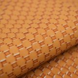Кожа PU Faux картины Weave корзины искусственная для мешков ботинок