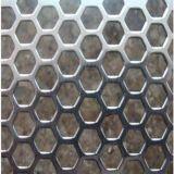 Metal perfurado de diferentes furos em forma