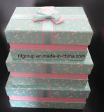 Коробка подарка картона PCS высокого качества 3 установленная с Bowknot