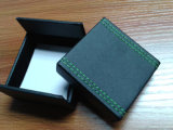 Cadre annexe de mémoire de bijou de caisse d'emballage de cadre de bouton de manchette de cheveu en cuir en bois de cadre (Cpb10)