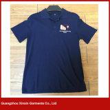 Maglietta Short-Sleeved del Mens della maglietta di colore puro del cotone (P133)