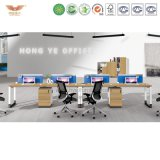 Mobília moderna estação de madeira para escritórios modulares (H90-0207)