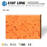 Brames Polished colorées personnalisées de pierre de quartz pour les panneaux conçus en gros de pierre/mur