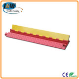 20 Ton Weight Capacity를 가진 2 채널 통신로 Rubber Cable Protector Ramps Cord Cover 1000년 * 250 * 50 mm